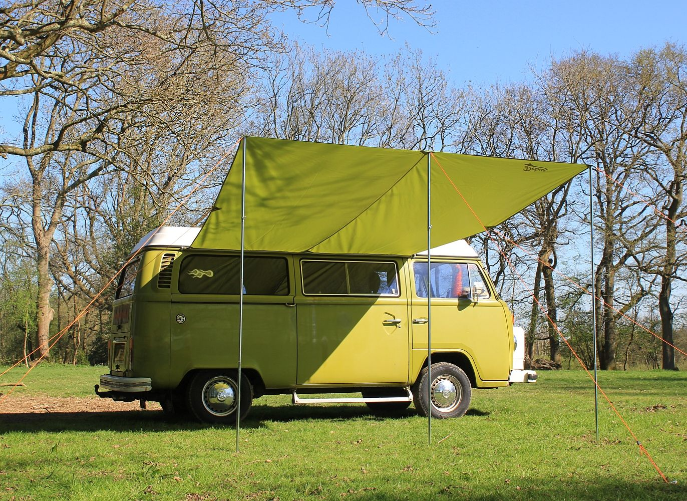 Debus Vw T2 T25 Campervan Sun Canopy Forest Green